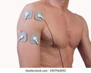 Close-up Of Person With Electrodes On Shoulder - Shutterstock ID 1907962093