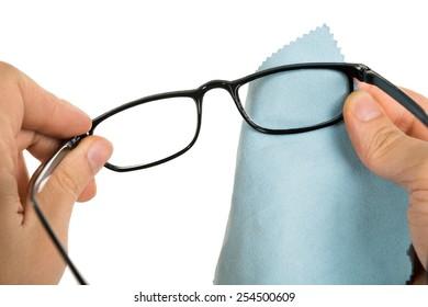 77fd270d08 Women Hand Cleaning Glasses Lens Blur Stock Photo (Edit Now ...
