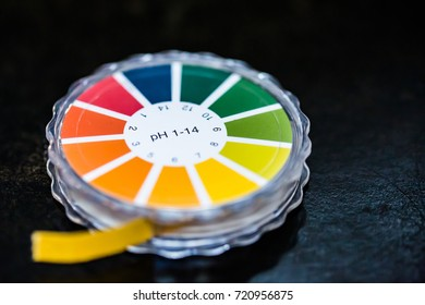 close-up of ph indicator paper
