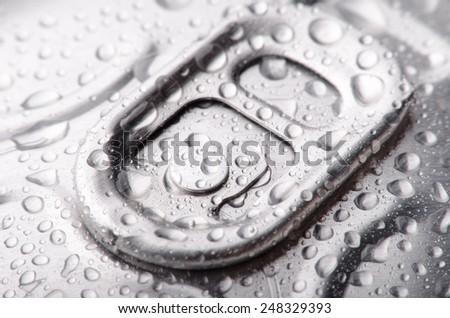 Closeup photo of aluminum