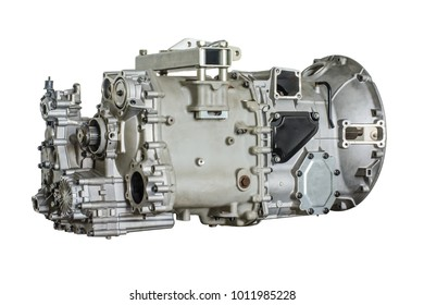 closeup photo of bus gearbox, with isolated background