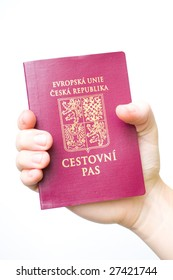 Closeup photo of czech passport - European Union