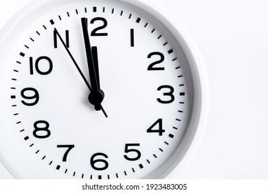 Close-up photo of a desk clock
