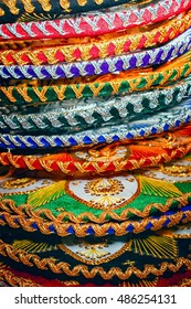 closeup photo of details of Mexican sombrero hat