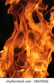 Close-up photo of fire, can be used as background