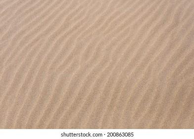 Closeup photo of a golden beach sand