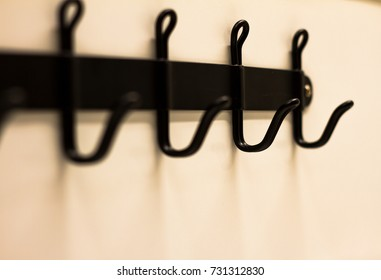 Close-up photo hanging hook.