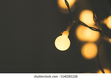 closeup photo of round lights in the garden