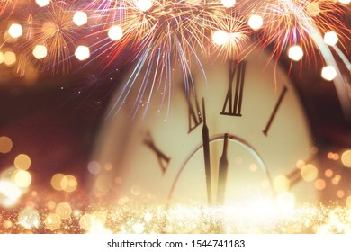 Close-up photo of vintage clock on background - Shutterstock ID 1544741183