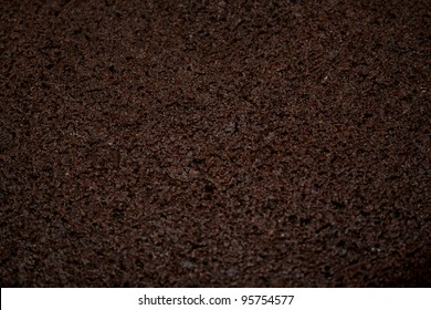 Close-up photograph of chocolate cake for use as an abstract background.