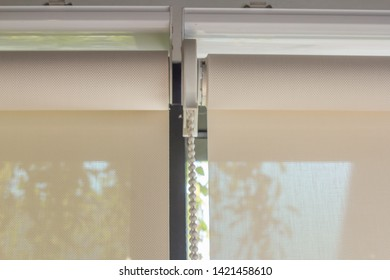 Close-up photos, detailed curtains or blind.