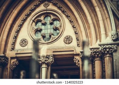 closeup photos of St Mary's Church in Stoke Newington, London, UK