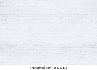 Close-up photos of white brick texture details background. House, shop, cafe and office design backdrop. Paint brickwork wall and copy space.