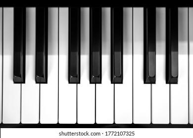 Close-up of Piano and Piano keyboard.