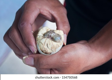 Close-up Picture of balut