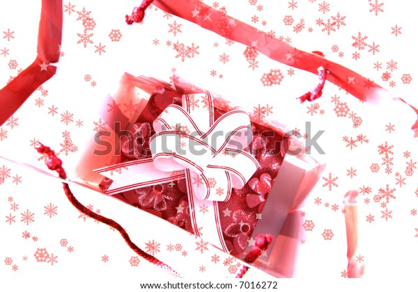 Close-up picture of a christmas present box