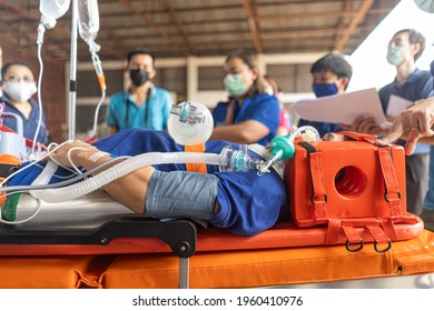 Close-up picture of intubation for emergency patients