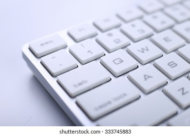Closeup picture of keyboard of a modern computer.