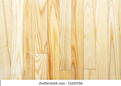 Close-up picture of light-colored hardwood floor (background, texture)