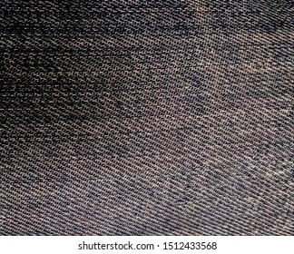 Close-up picture of old denim fabric texture