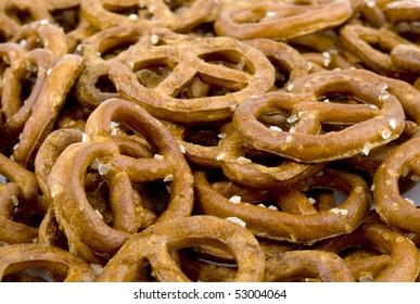 Closeup picture of tasty pretzels