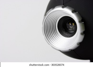 Close-up picture of a web camera.
