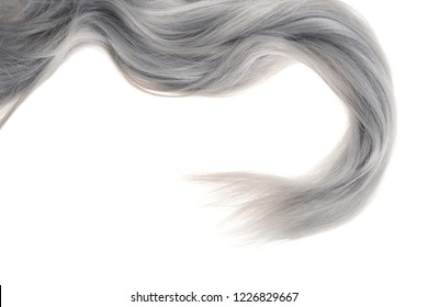 closeup piece of grey hair