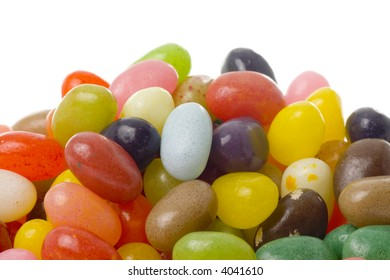 Closeup of a pile of jelly beans