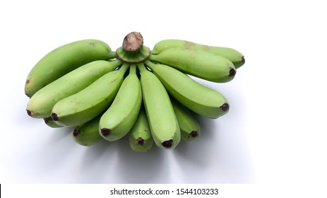 closeup plantain with a white background