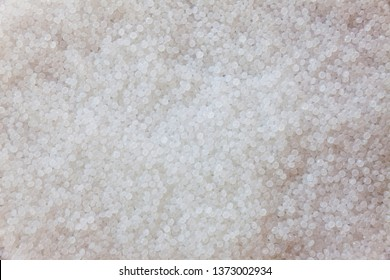 Close-up of plastic polymer granules. polymer plastic. polymer pallet.