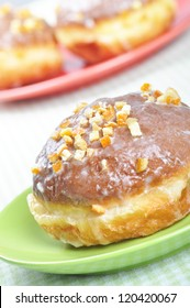 """Closeup of  polish donuts. This is typical polish food during """"Fat Thursday"""". Fat Thursday  is a traditional Polish and German feast."""
