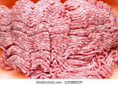 Close-up Portion of Minced Meat on background.Raw ground beef