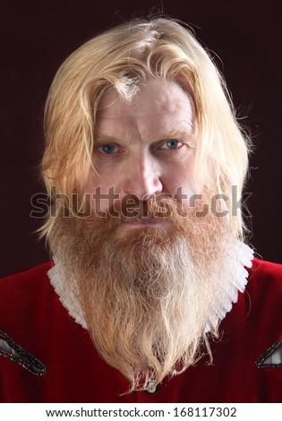 Blonde facial hair costume