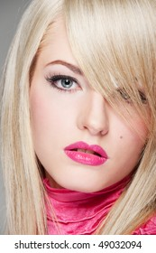 close-up portrait of alluring young woman