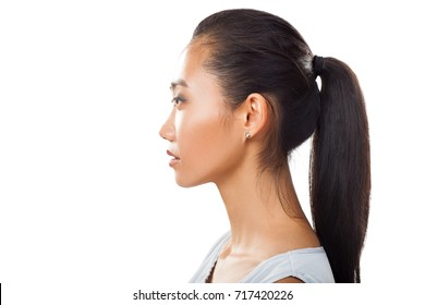 Side Profile Asian Woman Images Stock Photos Vectors Shutterstock