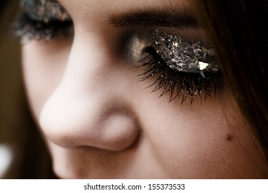 Close-up portrait of beautiful caucasian young woman