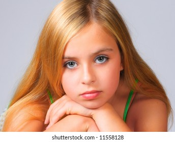 Close-up portrait of a beautiful teenager