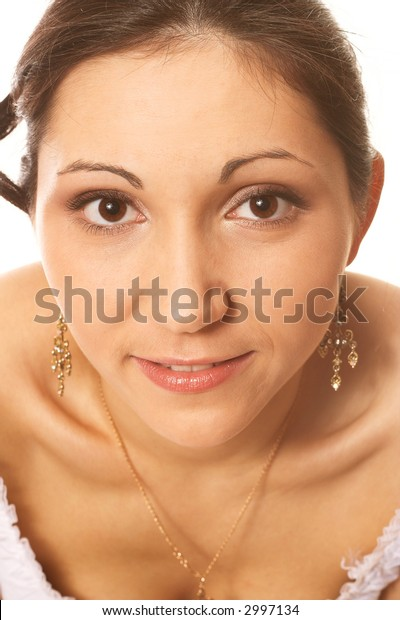 Close-up portrait of a beautiful woman
