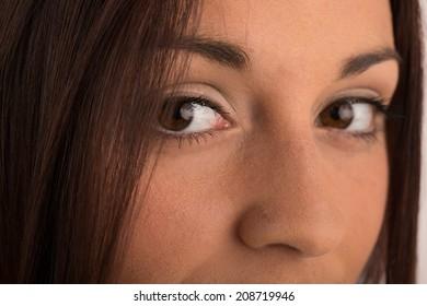 Close-up portrait of a beautiful women eyes