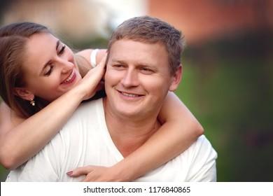 Closeup portrait of happy people
