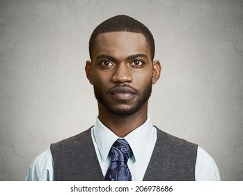 Closeup portrait, headshot, handsome happy, young, serious business man, confident student, real estate agent, isolated black grey background. Positive face expressions, emotions, feelings, attitude