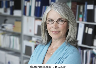 Closeup portrait of a middle aged businesswoman smiling