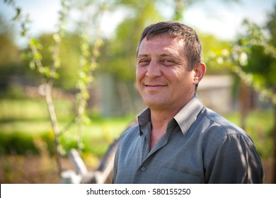 Closeup portrait of middle aged man