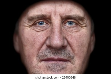 Close-Up Portrait of Old Man