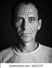 closeup portrait of old man