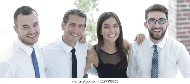 closeup portrait of a professional business team