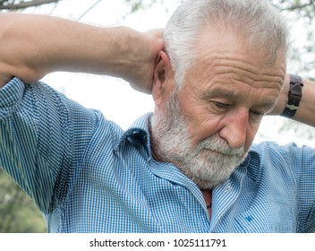 Closeup portrait senior, elderly, sad middle-aged bearded man, deep in thought, realizing truth, Human face expressions, emotions, reaction, Health matters