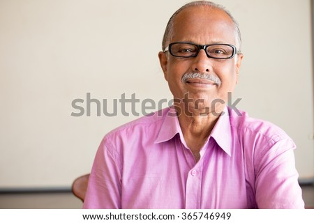 f60b68b8fdfa Closeup Portrait Smart Elderly Man Pink Stock Photo (Edit Now ...