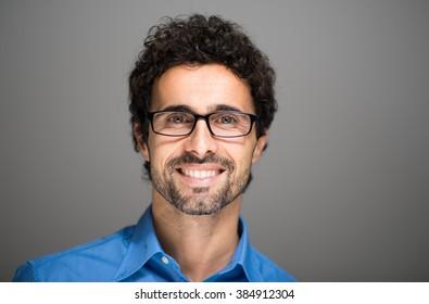 Closeup portrait of a smiling man.