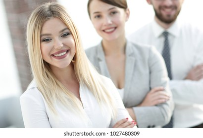 closeup portrait of successful business team. the business concept